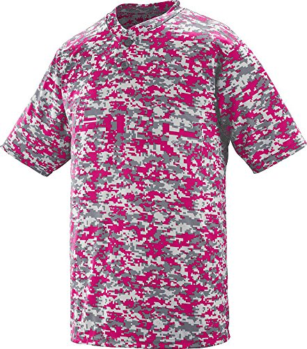 Power-baseball-jersey (Augusta Sportswear MEN'S DIGI CAMO WICKING TWO-BUTTON JERSEY XL Power Pink Digi)