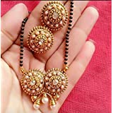 Mangalsutra & Earring Artificial Fancy Jewellery Mangalsutra & Earring Set In Gold Plated Color Light Weight