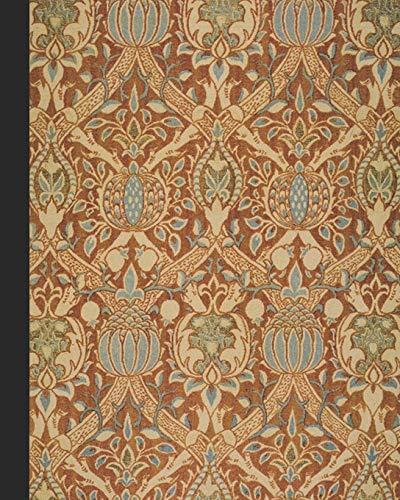 Vintage illustration journal: Unique designed dot grid Journal for the vintage illustration lover - Arts and craft movement - William Morris - Vintage granada velvet print -