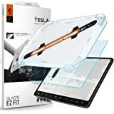 Spigen Glas.tR EZ Fit Screenprotector compatibel met Tesla Model 3, Model Y, met sjabloon voor installatie, Mat, Anti-Vingera