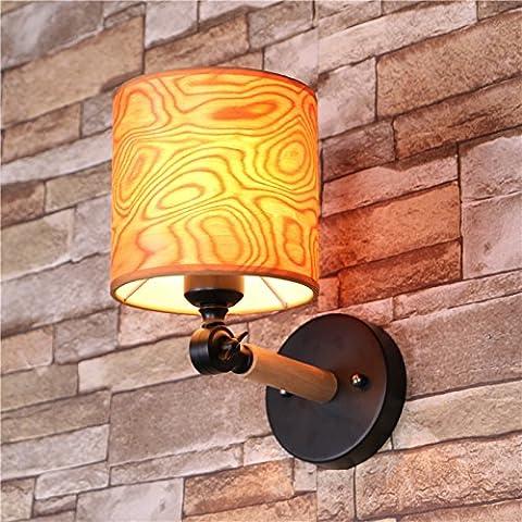 ZQ@QX Parete decorativa tradizionale semplice hotel café ristorante lampada da parete Lampadario in ferro battuto copertura di impiallacciatura