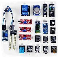 KOOKYE 20 in 1 Kit Moduli sensore per imparare Arduino UNO R3 Mega2560, Mega328 Nano (20 In 1 Kit)