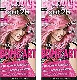 got2b la Décadente 093 Coloration Semi Permanent Bomb'Art Rose - Lot de 2