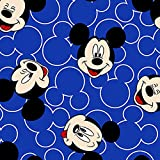 Jersey Stoff – Mickey Mouse Faces blau – Jersey