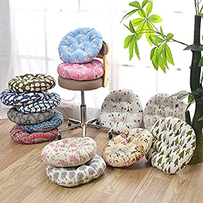 Zhiyuan Round Linen Seat Cushion Chairpad Barstool Cushion Floor Futon