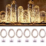 6PCS Indoor Fairy Lights, Jeasun CSL6 2M 20 LEDs Warm White Battery Operated String Lights Micro LED Battery Powered Decorative Starring Lights on Waterproof Copper Wire for Bedroom Wedding Party Bottle DIY - Jeasun - amazon.co.uk