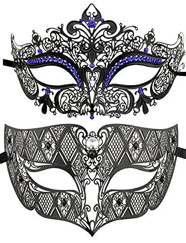 Couple de style vénitien Mascarade Masque de luxe style princesse Parti Masque