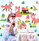 Wallies Woodland Tea Party Wall Play Peel and Stick Decor
