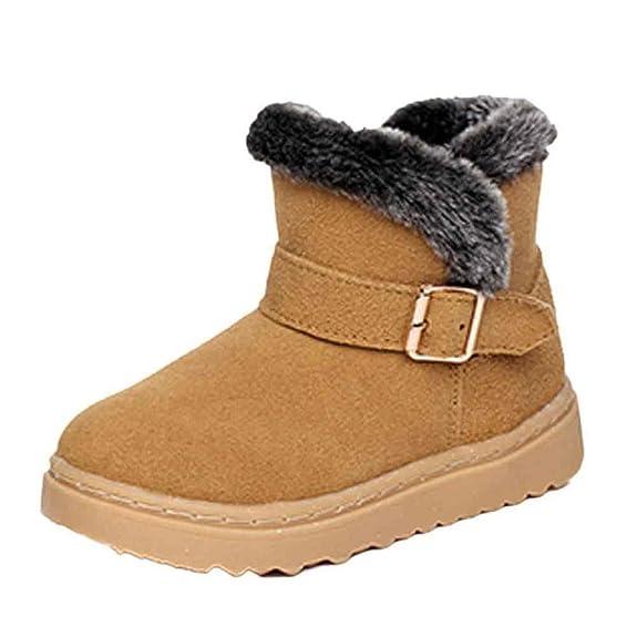 Chaussures de bébé,Transer ® Mode Style d'enfants cuir coton bottes neige  chaude martre bottines: Amazon.fr: Chaussures et Sacs