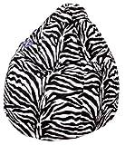 Sitzsack Afro XXL ca. 300 Liter (Zebra) (bis ca. 7 Jahre)