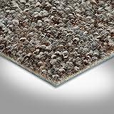 BODENMEISTER BM72269 Teppichboden Auslegware Meterware Schlinge meliert 200, 300, 400 und 500 cm Breit, verschiedene Längen, Variante:, Grau Braun, 3 x 3 M