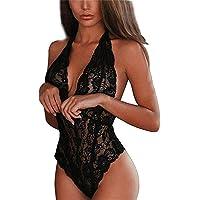 Cabeen Intimo Donna Sexy Babydoll Lingerie Costume Biancheria Pizzo Camicia da Notte Prospettiva Pigiama per La Notte di…