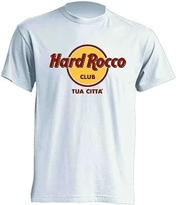 Mister Patch - Hard Rock T-Shirt Parodia - Divertente Hard Rocco - Personalizzata con la Tua Città - 100% Cotone - Idea Regalo