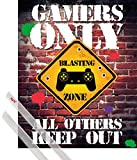 1art1 Poster + Hanger: Gaming Mini-Poster (50x40 cm) Gamers Only, All Others Keep Out Inklusive Ein Paar Posterleisten, Transparent