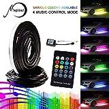 LED Auto Underglow Kit, MIHAZ 72 LEDs RGB Unterboden System Neonlichter 2 * 90 + 2 * 120cm w/Sound Active Funktion und Wireless Fernbedienung Flexible Wasserdichte Beleuchtung Strip (90-120cm)