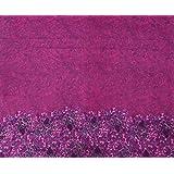 Impreso floral Confección Pink Cotton Craft Tela Para coser por la pieza