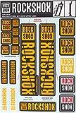 RockShox Aufklebersatz 35mm Neonorange, Pike/Lyrik/Yari/Domain/ Revelation, 11.4318.003.508 Ersatzteile, orange, Standrohre