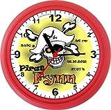 Lucky Clocks PIRAT KINDERUHREN TAUFE GEBURT Wanduhren im Piratenlook für jeden Anlass mit jeder Beschriftung und jedem Vornamen Namen erhältlich