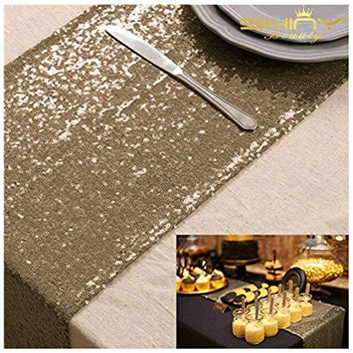 schläufer, Kupfer-Tischdecken, 33 x 213,4 cm, für Partys, Brautpartys, Dekorationen ()