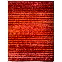Morgenland Gabbeh Teppich 80 x 200 cm Handgearbeitet, Schurwolle, Orange, 80 x 200 x 1.8 cm