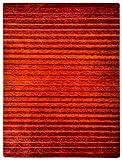 Morgenland Gabbeh NERIO Teppich Modern 140 x 70 cm Brücke Rot Orange Handgearbeitet 100% Schurwolle Weich und Dicht Fusselfrei Wollteppich Gestreift Viele Größen