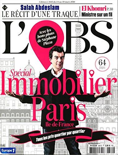 L'OBS hors-série; spécial immobilier Paris - tous les prix quartier par quartier par L'OBS