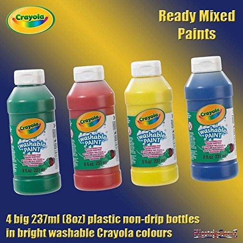 B-Creative Crayola bereit Mixed Mix waschbare Farben 4 Pack-rot blau grüngelben Farben