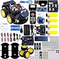 - Interfaces des modules et câblages modifiés pour rendre l'assemblage de la Smart Robot Car plus intuitif. Il suffit de connecter les modules entre eux. La voiture robot peut être construite très rapidement, donnant à la personne qui le réalise un g...