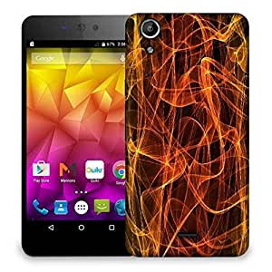 Snoogg grungy flames background Designer Protective Back Case Cover For Micromax Canvas Selfie Lens Q345