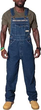 Mens Dungarees Denim Bib Overalls Dungarees Overalls Adjustable Straps Multiple Pockets