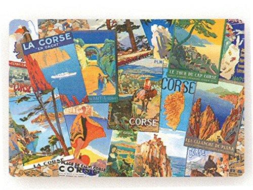 Preisvergleich Produktbild FRANZOSICH VINTAGE TISCHSET RETRO Patchwork Platzdeckchen plm Poster Retro Korsika und Umgebung