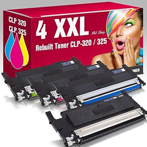 Preisvergleich Produktbild ms-point® Multipack 4x Kompatibler Toner für Samsung ersetzt CLP-320 N CLP-325 CLP-325 N CLP-325 W CLX-3185 CLX-3185 FN CLX-3185 FW CLX-3185 N