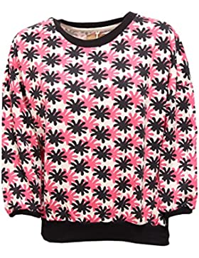 0258R felpa donna PINKO FOR ETHIOPIA ARI fuxia/nero/bianco sweatshirt woman