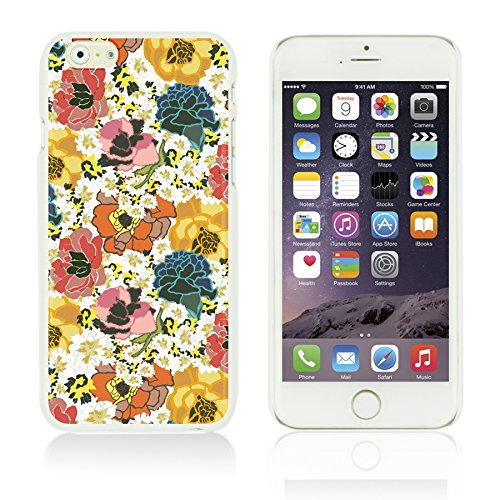 OBiDi - Flower Pattern Hardback Case / Housse pour Apple iPhone 6 Plus / 6S Plus (5.5)Smartphone - Small Red Roses Colorful Floral Print