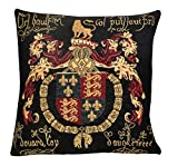 edle Kissenhülle, Zierkissenhülle 45 X 45 cm, The Three Lions Crest ,Dieu et mon Droit , Gobelin Cushion