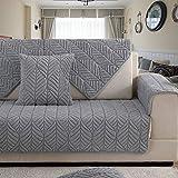 Felpa Sofá fundas,Protector de sofá perro,Fundas de toalla de sofá,Sofá protector de algodón acolchado anti deslizamiento decorativo sofá cubre juegos de tiro para sala de estar cubierta del cojín-gris 90x160cm(35x63inch)