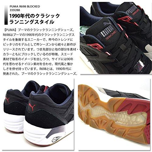 Puma R698 Blocked Femme Baskets Mode Noir Gris