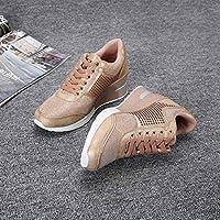 High Heeld Wedge Sneakers for Women - Ladies Hidden Sneakers, Pink, Size 5.0 US US