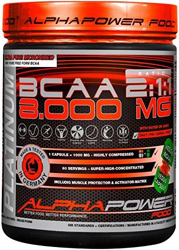 BCAA Kapseln Vegan, hochdosiert, 300 Caps - Aminosäuren & B12 von ALPHAPOWER FOOD