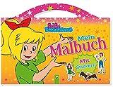 Bibi Blocksberg Mein Malbuch mit Stickern: Taschenmalbuch mit Tragegriff