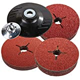 115mm Rubber Backing Pad for Angle Grinder & 30 Fibre Sanding Discs