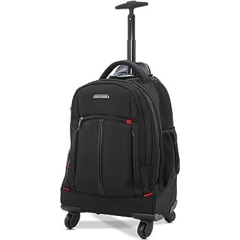 "23c10184369a Aerolite 21"" 55cm 4 Wheel Trolley Backpack Executive Mobile Office Business  Hand Cabin Luggage Laptop Rucksack Shoulder Bag – Approved for Easyjet"