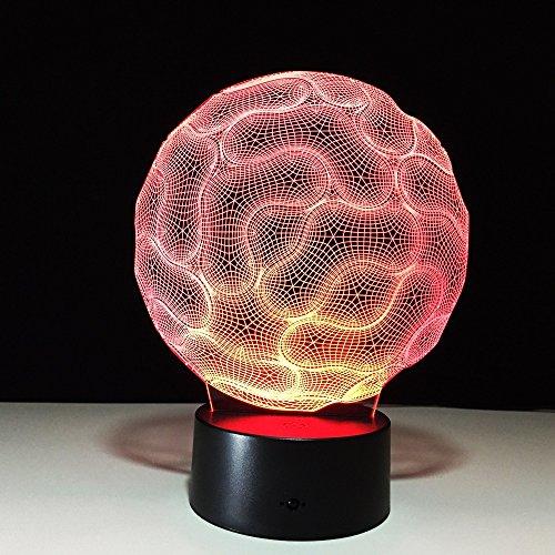 Mhc 3D LED Optische Illusion Nachtlicht Nachtlampe Acryl USB Powered Kinder 7 Wechselnden Farben Schlafzimmer Weihnachtsdekoration Geburtstagsgeschenk Touch Und Fernbedienung Switch-533 -