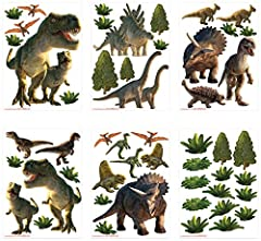 Idea Regalo - Walltastic Terra dei Dinosauri Kit Decorazione Stanze, PVC, Multicolore, 37.5x8x18 cm