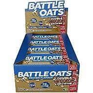 Battle Oats High Protein Gluten Free Flapjacks Protein Bar, New Low Sugar Formula, 12 x 70g - Double Chocolate Brownie
