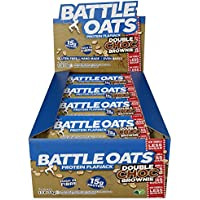 Battle Oats High Protein Gluten Free Flapjacks Protein Bar, New Low Sugar Formula, Double Chocolate Brownie, 12 x 70g