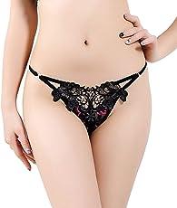 Bahucharaji Creation Presents Black Color Thong Panties.(GP047, Color: Black, Size: Medium)