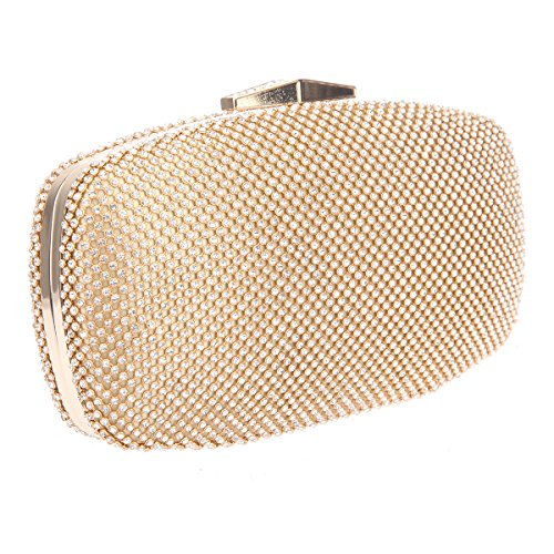 Bonjanvye Evening Clutch Purse With Handle Bags For Women Handbags Gold gold