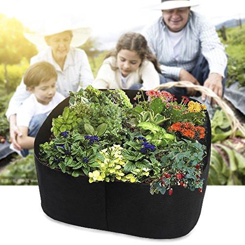 Grand sac de plantation Pot de fleurs jardin Légumes Salade de tomates pour sac de culture pour pot de fleurs 90x90x40cm Noir