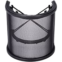 Zacro Double Layer Microphone Mic Windscreen Pop Filter, Recording Studio Metal Vocal Recording Panel Acoustic Isolation